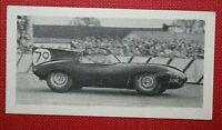 D-TYPE JAGUAR  Racing Car   Original 1950's Vintage Photo Card