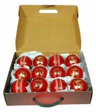 SG Club 12 pce Red 156g  Leather Cricket Ball red