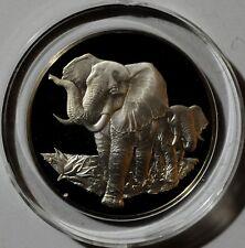 EAST AFRICAN WILDLIFE SOCIETY - ELEPHANTS 62g .925 Fine Silver