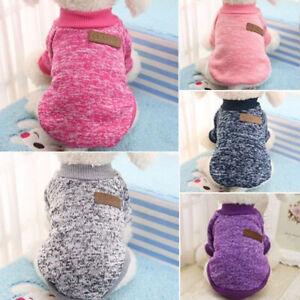 Soft Pet Dog Clothes Small Puppy Cat Jumper Sweater Warm Boy Girl Vest Coat XS-L