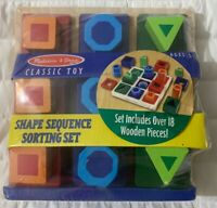 Retired Melissa & Doug Shape Sequence Sorting Set Classic Wooden Toy #582 Sealed