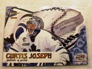 2002-03 Prism Platinum Glove Side Net Fusion Die Cut Curtis Joseph Card #6 Cool