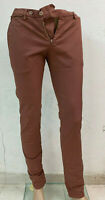Pantalone Uomo Berwich Made in Italy Slim Fit Ruggine Tasca America Taglia 44-46