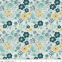 Clearance Sale~Ava Rose~Floral Blue~Floral Cotton Fabric by Riley Blake