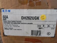 Eaton DH262UGK 60 Amp 2 Pole 600V NEMA 1 Non-Fused Safety Disconnect Switch NEW