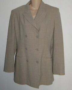 BANANA REPUBLIC Tan Wool Blend Double Breasted Blazer Jacket Italy Misses Size 6