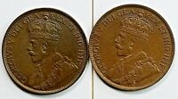 2 Canada One Cent 1914 UNC. 1920 AU Check It Out!!  KM# 21 #AA244