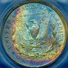 1921 $1 Morgan ((Beautiful RAINBOW Toning)) ICG MS-62 (DR)