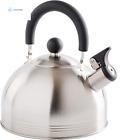 Mr. Coffee Carterton Stainless Steel Whistling Tea Kettle, 1.5-Quart, Mirror Pol
