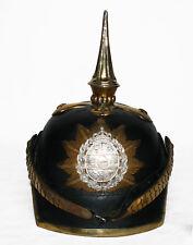 Pickelhaube Leder Offizier Pickelhelm Helm Mecklenburg  Larp Tschako L182