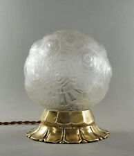 SABINO : FRENCH ART DECO LAMP 1930 ... bronze lustre globe lampe muller era 1925