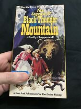 The Legend of Black Thunder Mountain- (VHS) Family action adventure