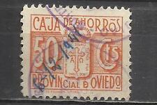 7563C-SELLO FISCAL LOCAL CORPORATIVO 1939-42.CAJA AHORROS  OVIEDO,ASTURIAS.