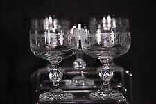 Vintage Set Of 5 Etched Champagne Dessert Glasses Great Condition