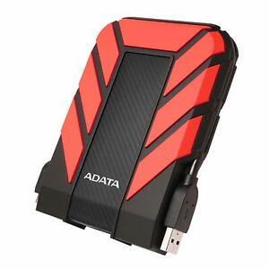 NEW ADATA HD710 Pro RED External HDD 1TB IP68 Waterproof Shockproof Hard Drive