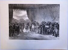 Lithographie, Napoléon, Traité avec les Etats Unis
