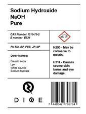 LYE Caustic Soda Sodium Hydroxide Pure FOOD GRADE Soap Making NaOH Fast Dispatch