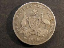 Australia.  Florin (2 Shillings), 1918M.