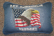 Star Spangle Americana ~ Let Freedom Ring Tapestry Word Pillow