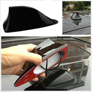 1x Universal Car Shark Fin Roof Antenna Radio FM/AM Decorate Aerial Black