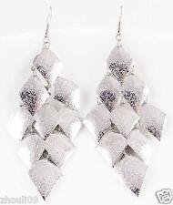 silver Women Elegant Rhinestone Ear Stud dangle Earrings e499