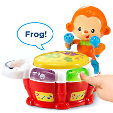 VTech Baby Beats Monkey Drum, Fun Animated Music Toy for Infant