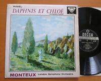 SXL 2164 ED1 Ravel Daphnis Et Chloe Complete Monteux NEAR MINT Decca WBG 1st