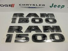 "15-16 Dodge Ram 1500 New ""Ram 1500"" Flat Black Emblem Nameplate Set of 2 Mopar"