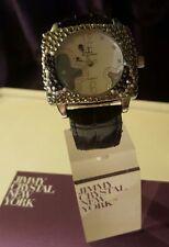 Reloj de lujo diseñador por Jimmy cristal adornado con Swarovski-ICE 507 Negro Jet
