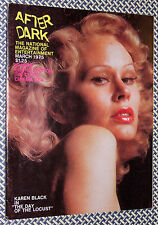 1975 After Dark Magazine, KAREN BLACK, ROCKY HORROR, ELAINE STRITCH, sex, gay