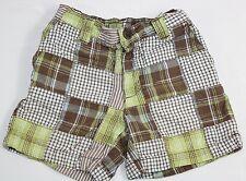 Gymboree Toddler Boy 12-18 Mo Green Brown Blocked Plaid Shorts