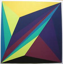 Ben muthofer (1937) astrazione geometrica ORIG serigrafie 1971 firmato 54/80