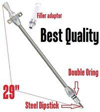 GM 700-R4 Transmission TH700R4 Flexible Steel Braided Oil Dipstick Hot Rod