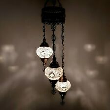 Authentic Turkish Moroccan Glass Mosaic Hanging Lamp Ceiling Light Chandeliers