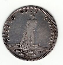 1749 silver jeton commemorating Peace of Aachen / Paix de Aix-La-Chapelle