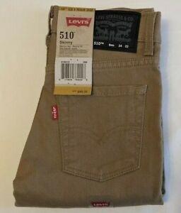 LEVI'S 510 SKINNY JEANS - Boy's 8 (24X22 - British Khaki) NWT $48