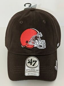 New NFL 47 Brand Clean Up Cleveland Browns Women's Adjustable Hat