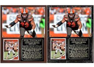 Joe Thomas Cleveland Browns Tribute Photo Card Plaque