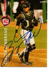 Eliezer Zambrano 2016 Richmond Flying Squirrels Signed Card