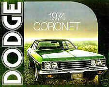 1974 DODGE CORONET FACTORY BROCHURE-CORONET CUSTOM