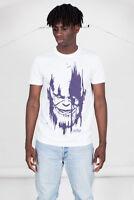 Oficial Marvel Comics Vengadores Infinity GUERRA Thanos cabeza morado Camiseta