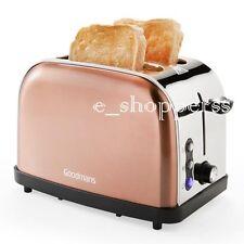 NEW STYLISH Copper Colour 2 Slice Toaster -GOODMANS *****DIAMOND EDITION******
