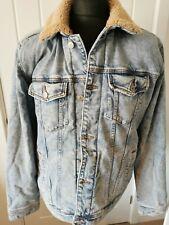 New listing Mens Hollister Cali Washed Denim Fleece Lined Stretch Jacket BNWT XL RRP £79