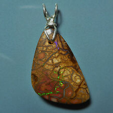 Pendentif argent Opale Boulder Koroit Australie 15.4ct VIDEO Opal silver pendant