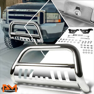 """For 97-04 Ford F-150/F-250/Expedition 3"""" Bull Bar Front Push Bumper Guard Chrome"""