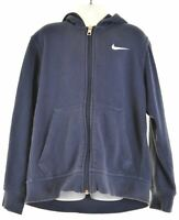 NIKE Boys Hoodie Sweater 9-10 Years Small Navy Blue Cotton  KP61
