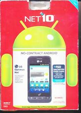 LG Optimus Net L45C - Black (Net10) Smartphone - NIB - Box Looks Worn