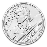 2021 Great Britain Music Legends David Bowie 1 oz .999 Silver Coin BU - NEW