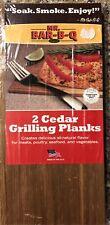 Mr Bar-B-Q Bbq Cedar Grilling Planks 2pk natural flavor meat seafood vegatables