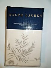 Ralph Lauren Hoxton Ainslie Cream and Grey King Pillow Sham retail $115